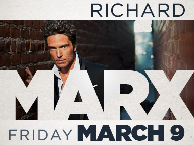 At Tulalip Resort Casino south of Richmond, BC near Seattle we had live music in the Orca Ballroom by Richard Marx!