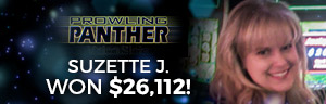 Play slots at Tulalip Resort Casino north of Seattle and Bellevue on I-5 like Suzette J. hitting a huge jackpot on Prowling Panther - Vegas style slots!