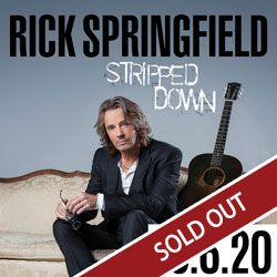 Enjoy Rick Springfield live in concert at the Tulalip Resort Casino in the Orca Ballroom on Friday, March 6, 2020 - SOLD OUT!