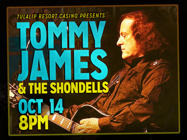 The fabulous Tulalip Resort Casino near Seattle hosted Tommy James & The Shondells on Saturday, October 14th, 2017 in the Orca Ballroom!
