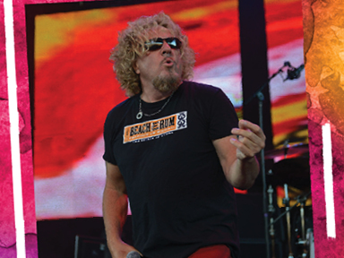 Sammy Hagar performed on August 24th, 2016 at Tulalip Amphitheatre near Seattle on I-5!