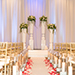 Tulalip Resort Casino Meetings and Events Weddings ceremony showing the pedestals
