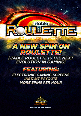 Play Tulalip Resort Casino's new table game i-Table Roulette! Located just north of Everett next to Marysville off I-5!