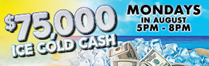 Be one of the SEVEN LUCKY WINNERS that will have a chance to win up to $5,000 CASH every Monday at the Tulalip Resort Casino in Marysville