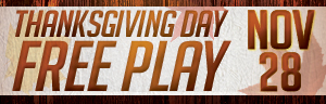 Thanksgiving Day Free Play at Tulalip Resort Casino
