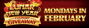 Play slots at Tulalip Resort Casino just north of Bellevue and Redmond on I-5 and enter the Lunar New Year Culinary Giveaway Mondays in February!