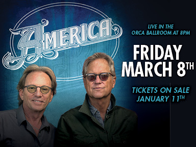 Play slots at Tulalip Resort Casino south of Vancouver, BC near Seattle on I-5, and enjoy great performances like America playing in the Orca Ballroom on March 8, 2019!