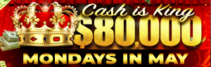 Play slots at Tulalip Resort Casino north of Bellevue and Edmonds on I-5 Mondays in May to enter the $80,000 Cash is King drawings!
