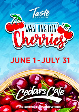 Play slots at Tulalip Resort Casino south of Vancouver, BC near Seattle on I-5 with Washington Cherries specials in Cedars June 1 - July 31!