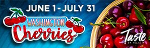 Play slots at Tulalip Resort Casino north of Redmond and Seattle on I-5 with Washington Cherries specials  June 1 - July 31!