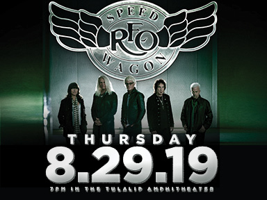 Play slots at Tulalip Resort Casino south of Vancouver, BC near Seattle on I-5, and enjoy live performances like REO Speedwagon at the Tulalip Amphitheatre on August 29, 2019!