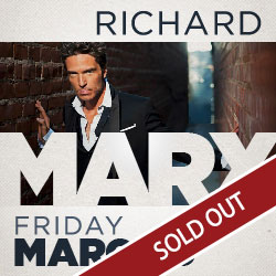 At Tulalip Resort Casino south of Vancouver, BC near Seattle you can enjoy live music in the Orca Ballroom by Richard Marx March 9th - sold out!