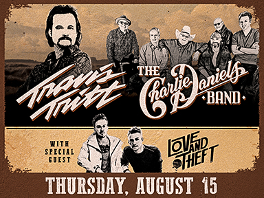 Enjoy slots at Tulalip Resort Casino north of Bellevue and Seattle on I-5, and more like Travis Tritt and The Charlie Daniels Band playing live in the Tulalip Amphitheatre on August 15, 2019!