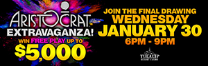 Tulalip Resort Casino north of Bellevue and Seattle on I-5 introduces the new Aristocrat slots in January!